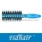 Round plastic vent hair brush with mixed bristles