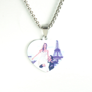 Custom Stainless Steel Heat Transfer Photos Necklace Engraved Blank Dog Tags Necklace