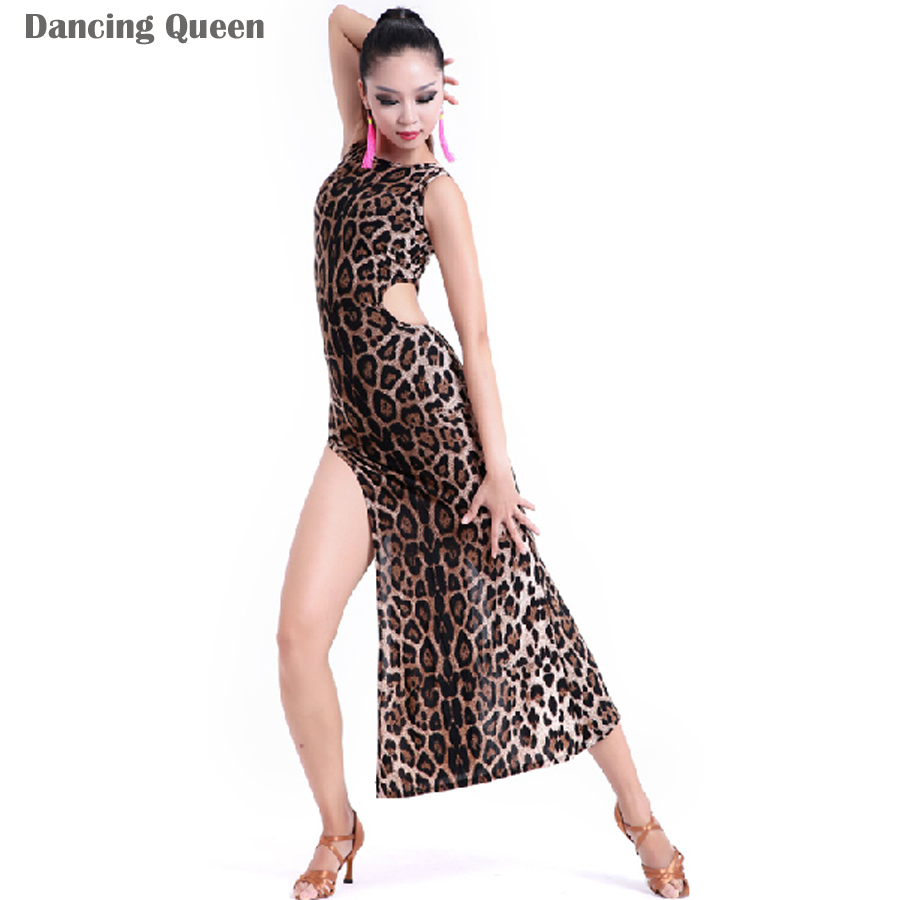 ed17e2c059ec Get Quotations · Latin Dance Costumes For Women Black/Leopard Cha Cha/Tango  Clothing For Dance Dance