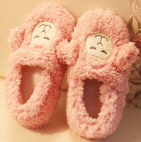 D12117A WOMEN PLUSH CUTE COTTON SLIPPERS