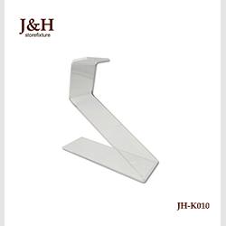 J & H Storefixture Acrylique Chaussures Présentoir 3 Couches Base Carrée Avec 5 Supports Pour Magasin Pour femmes chaussures