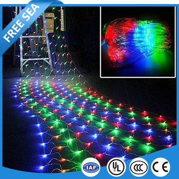 waterproof twinkle rgb led net lights for christmas wedding party multi color