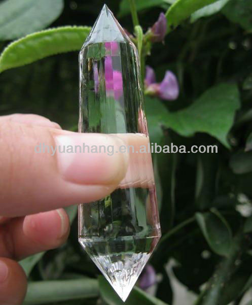 Transparent Natural clear quartz crystal 13 sides double terminated crystals,polyhedron clearly quartz crystal points