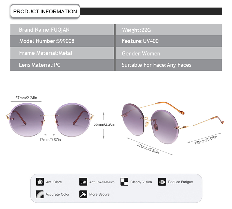Fuqian New clear polarized glasses ask online-7