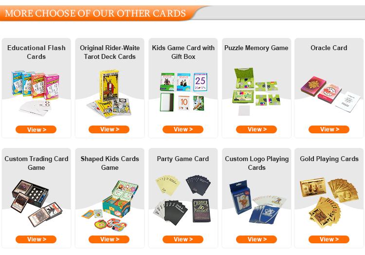 カスタム印刷紙トランプ、ポーカー、ポーカーカード