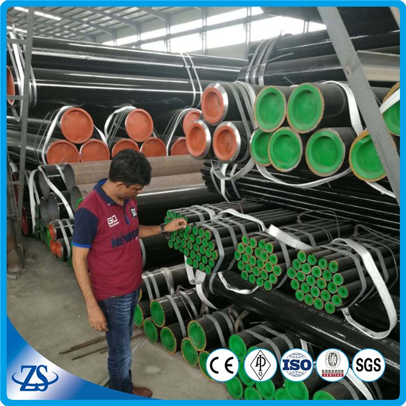 72 inch black seamless carbon steel pipe for oil and gas line