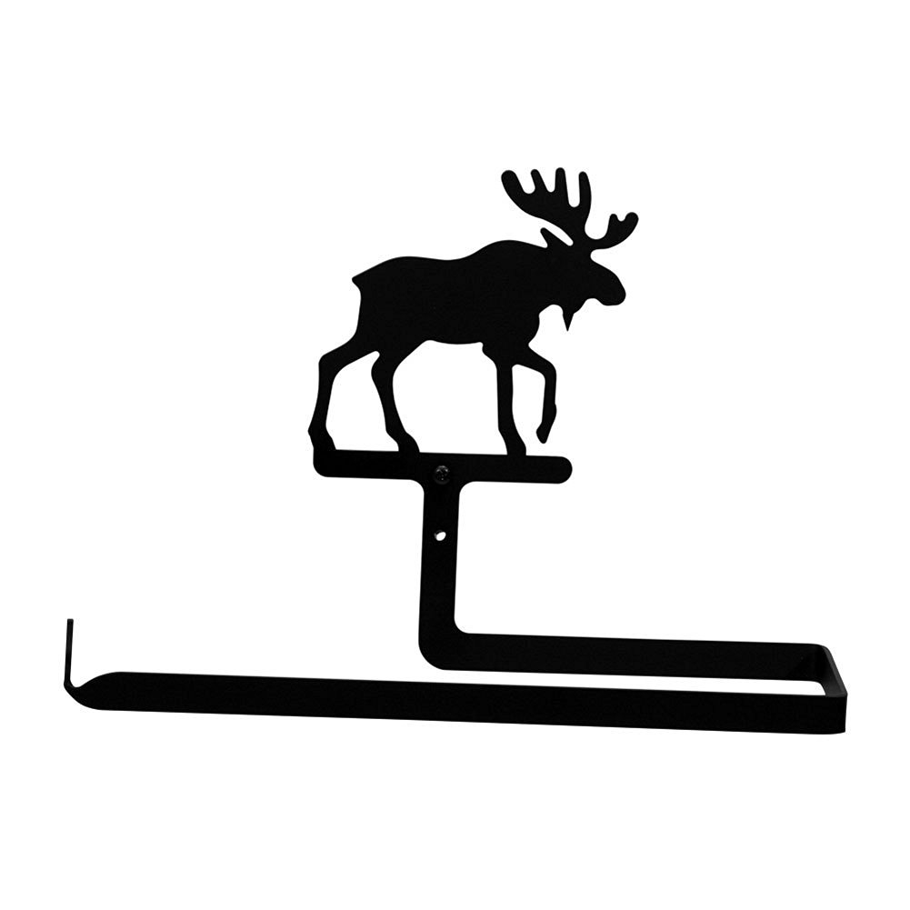 Iron Moose Horizontal Wall Mount Kitchen Paper Towel Holder - Heavy Duty Metal Paper Towel Dispenser, Kitchen Towel Roll Holder