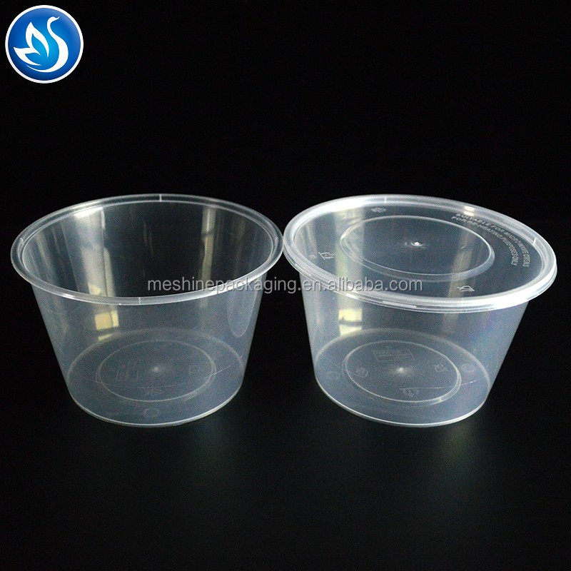 Wholesale New  OEM Disposable Plastic Round Takeaway Food Container