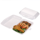 750ml Disposable takeaway foam lunch box for food restaurant take out single compartment foam food container box for packaging