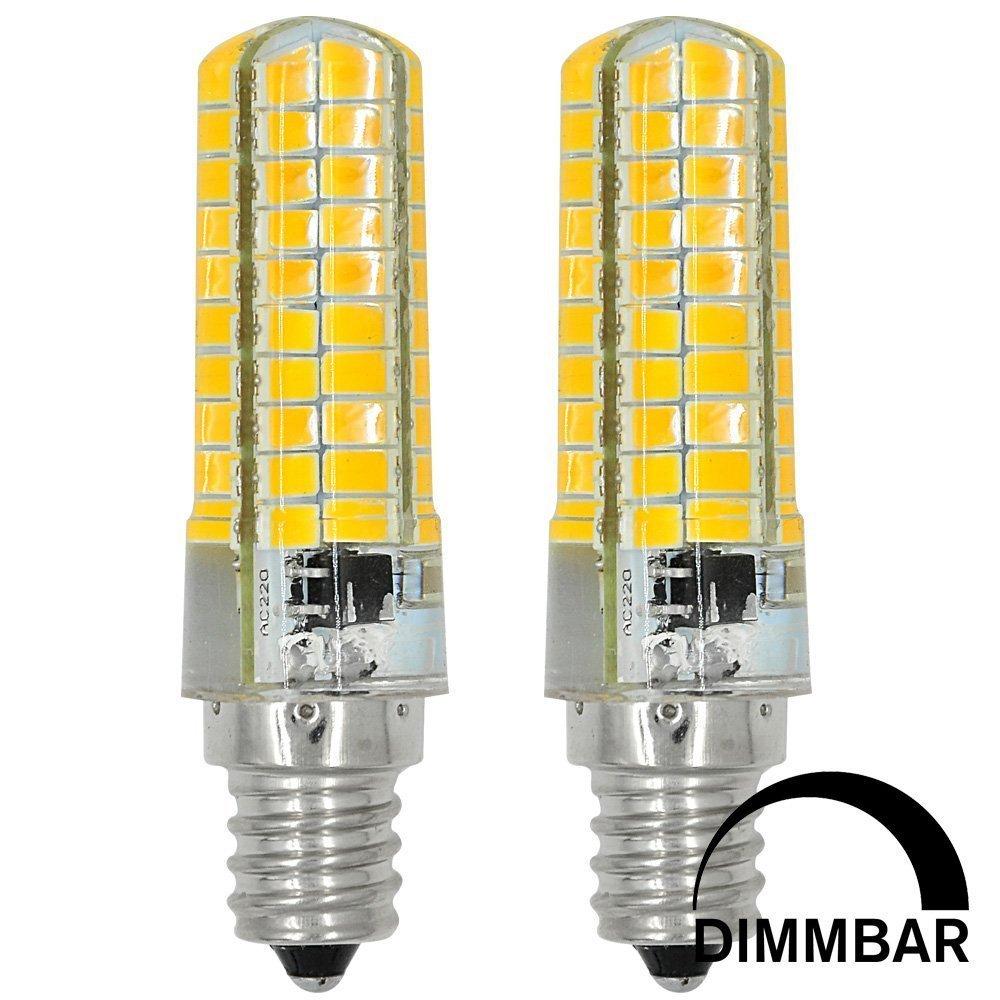 ACCKA 2-Pack Mini E12 LED Dimmable 6W 110V-130V E12 LED Bulbs, Candelabra Bulbs, Warm White, 2700K, LED Candle Bulbs, LED Light Bulbs, LED corn light