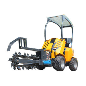 mini wheel loader agricultural equipment with trencher