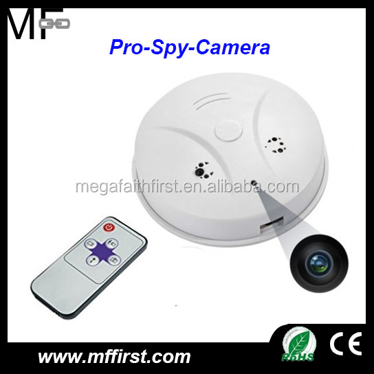 wholesale mini DVR full HD motion detection remote control spy smoke detector hidden camera