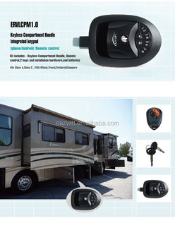 Remote control keyless compartment handle truck camper lock motorhome lock