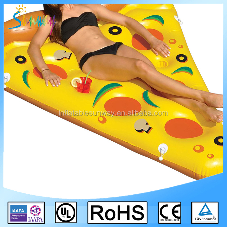SUNWAY2016 Inflatable Pizza Raft Floating Swimming Pool Float Raft