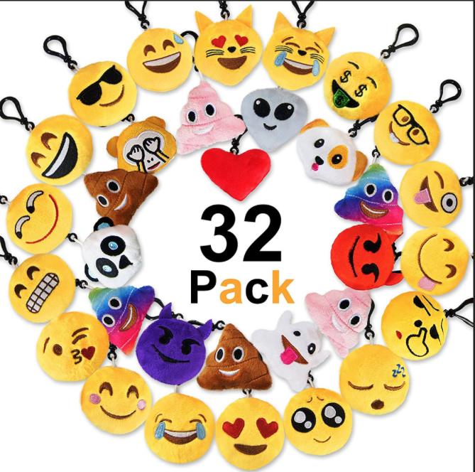 Free Sample Alien Emoji Expression Pig Poop Keychains Plush Buy