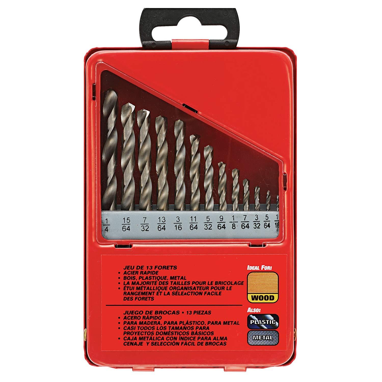SKIL 45173 13 Piece 1/4-Inch to 5/64-Inch Twist Drill Bit Assortment