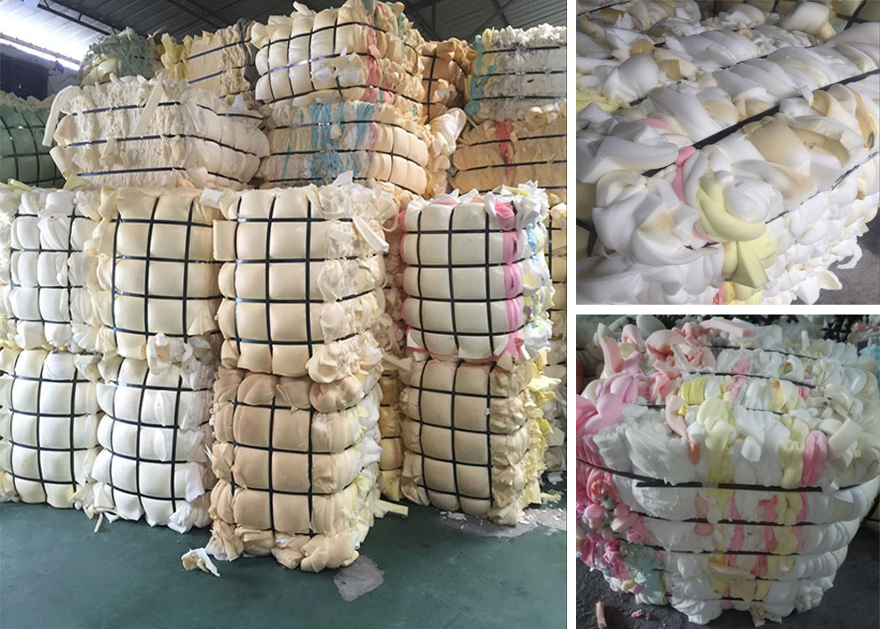 100% dry and clean scrap foam bales directly from china factory