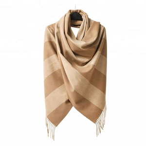 New fashion yarn-dyed stripe WOOL scarf 100 scarf muffler for girls