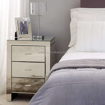 French Country Style Antique Silver Bed Side Tables