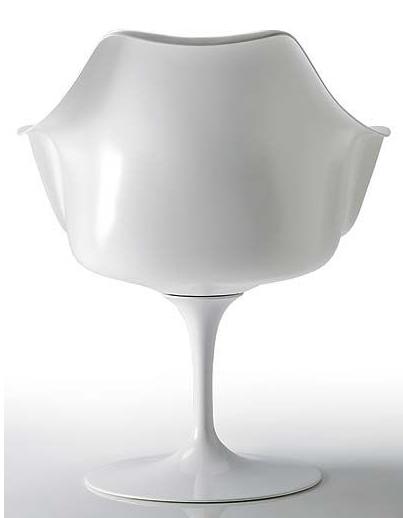 Muebles de diseño de moda de la forma de tulipán giratorias silla ...