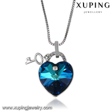 43357-wholesale fashion jewelry crystals from Swarovski big romantic stone heart necklace for Valentine's day