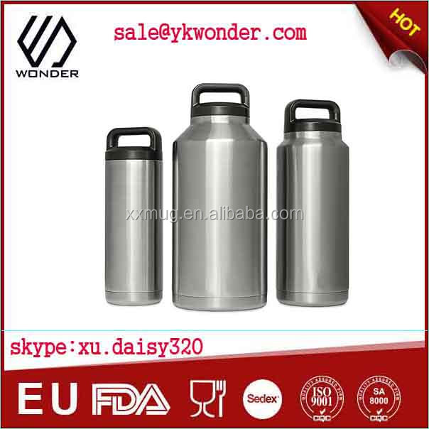 double wall vacuum insulated stainless steel water bottle keeps drinks cold & hot