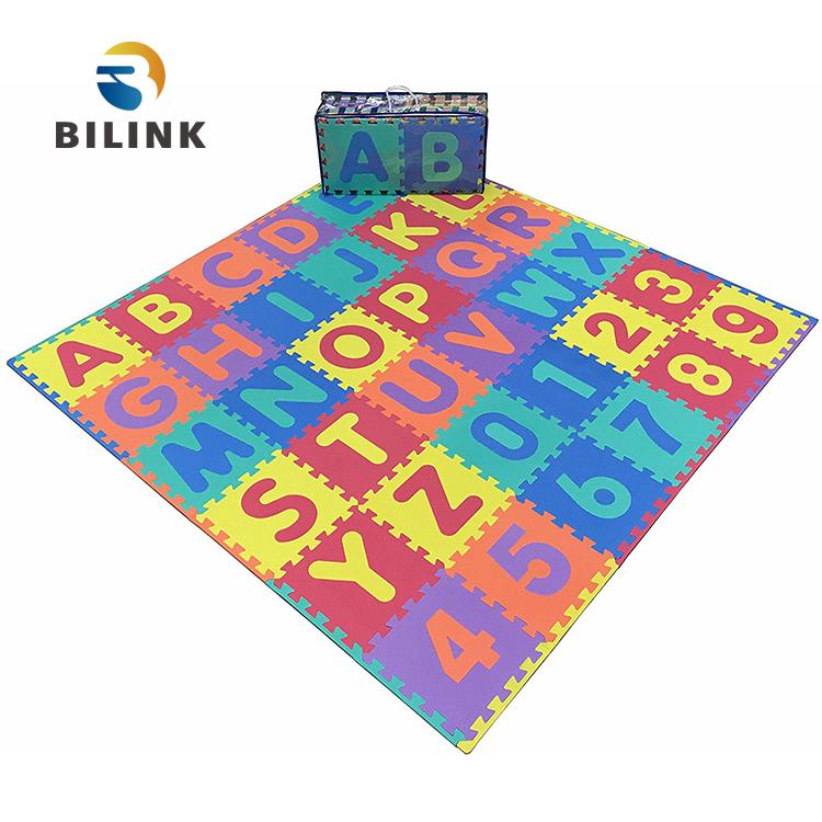 Bilink Cheap Interlock Foam Mats Baby Crawl Play Mat Hopscotch Mat