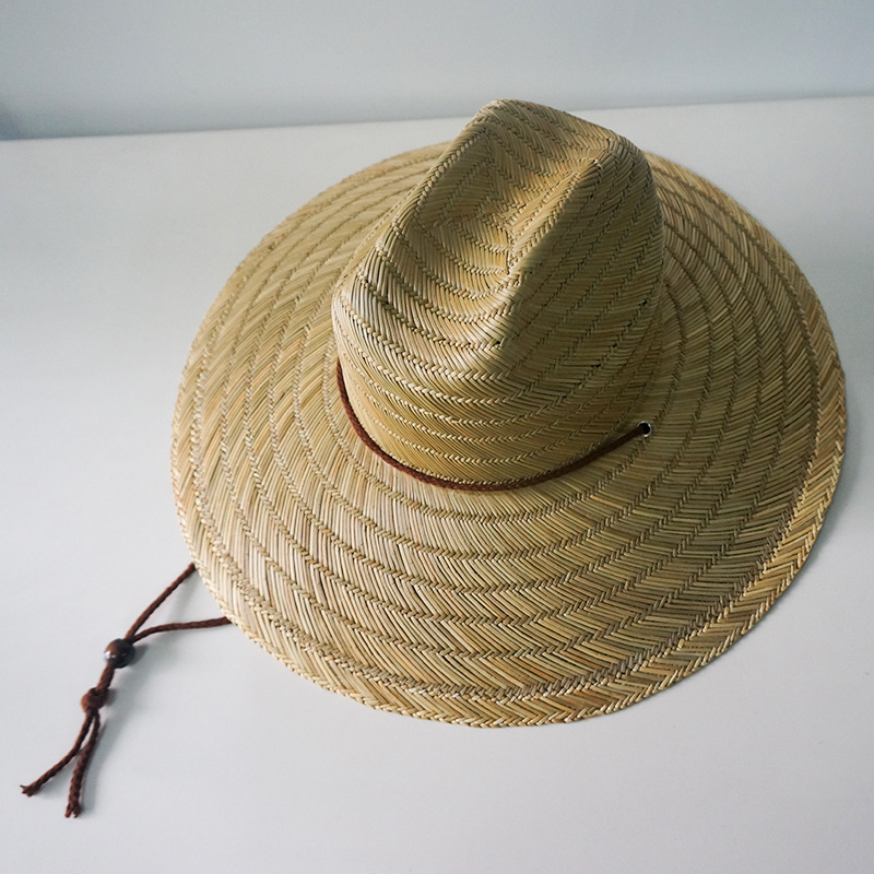 63ba2fb19bb 2018 China supplier promotional gift australia adjustable string summer UV  protection surf straw hat