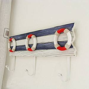 CCWY The Mediterranean style with blue and white Home Decorating Made the old style ??? 33cm hooks