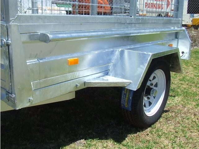 Small Hot Dipped Galvanised box trailer With cage for sale