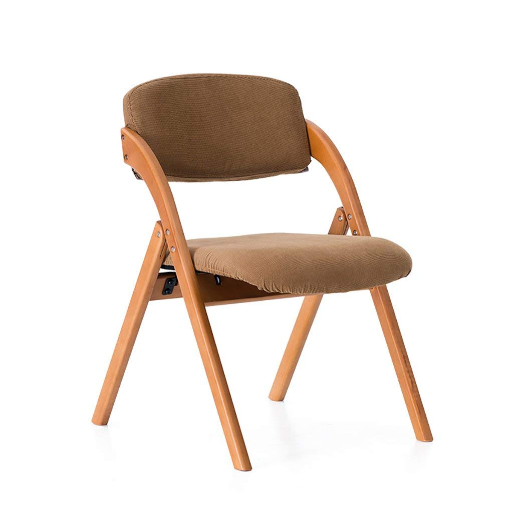 YXWyz Folding Tables Chair home solid wood dining chair/simple Nordic chair/modern chair creative leisure chair folding chair(a variety of colors can choose) Reception Chairs (Color : C)