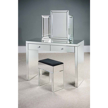 Modern Mirrored Furniture Dressing Table With Stool