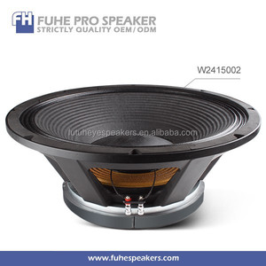24inch 1800W 6inch VC ferrite magnet big bass powered speaker / subwoofer