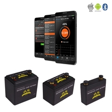 KOK POWER Smart 12V Motorcycle Battery 5Ah 6.5Ah 7Ah 390CCA LiFePO4 Small Rechargeable 12v Battery Bluetooth Customized