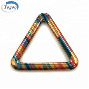Wholesale Various Size Colorful Zinc Alloy Triangle Metal Bag Accessories Ring