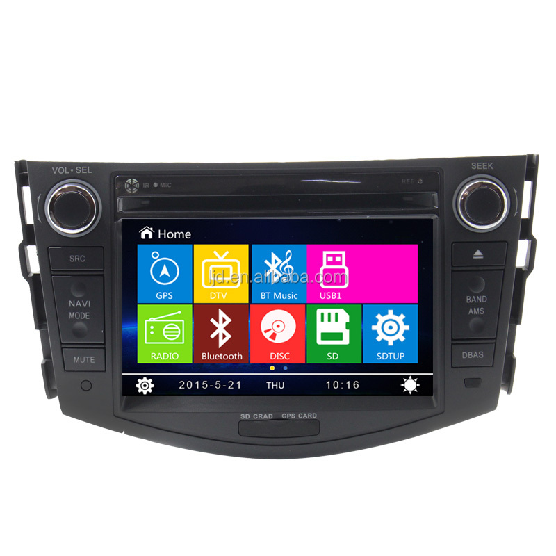 auto headrest dvd monitor car dab radio for toyota rav4 with dvd gps navigation
