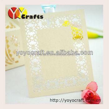 Fashion European Handmade Cardboard Wedding Invitation Card Thank