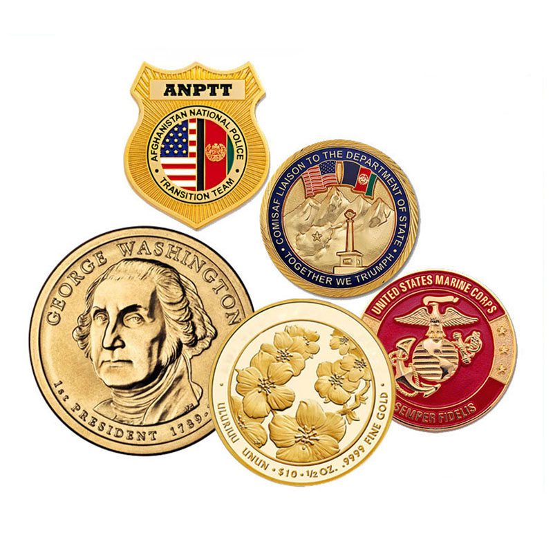 Commemorative secret service metal token stamping customized award airborne challenge coins no minimum