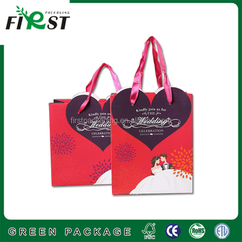 Creative Paper Gift Bags Red Indian Wedding Handmade Christmas