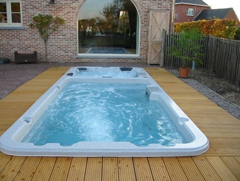 Underground Swimming Pool With Spa M 3323 Buy