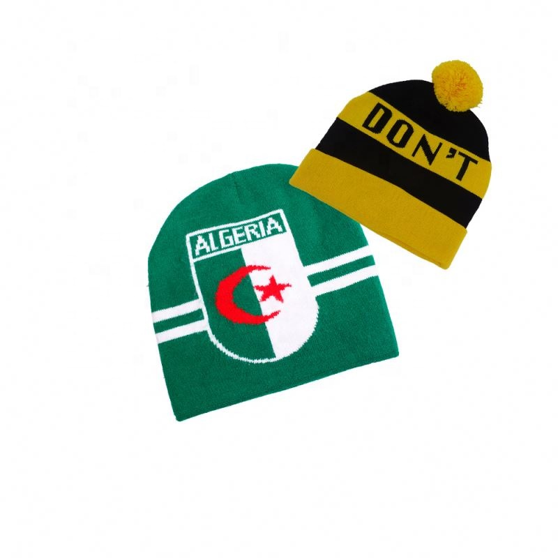 عالية الجودة فارغة مخصصة تصميم الملونة الكشمير قبعة