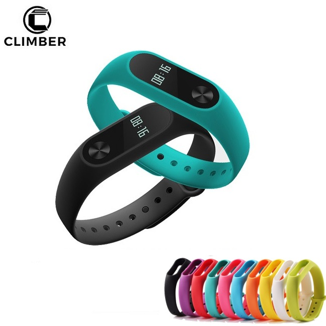 Colorful Silicone Wrist Strap Bracelet For Mi Band 2 Double Color Replacement Watchband Smart Band Accessories For Xiaomi Mi2 To Win Warm Praise From Customers Back To Search Resultswatches