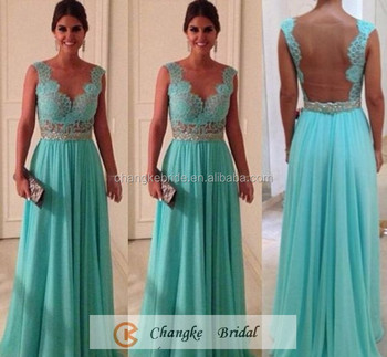 Hot Sale Wedding Bridesmaid Dresses See Through Lace Mint Green Sexy