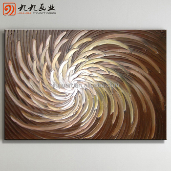 Wholesale Handmade canvas paintings heavy texture Abstract oil Painting