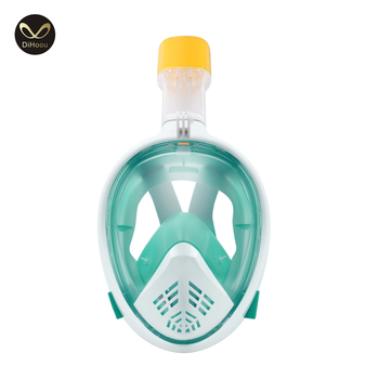Diving equipment full face snorkel mask with cambered lens