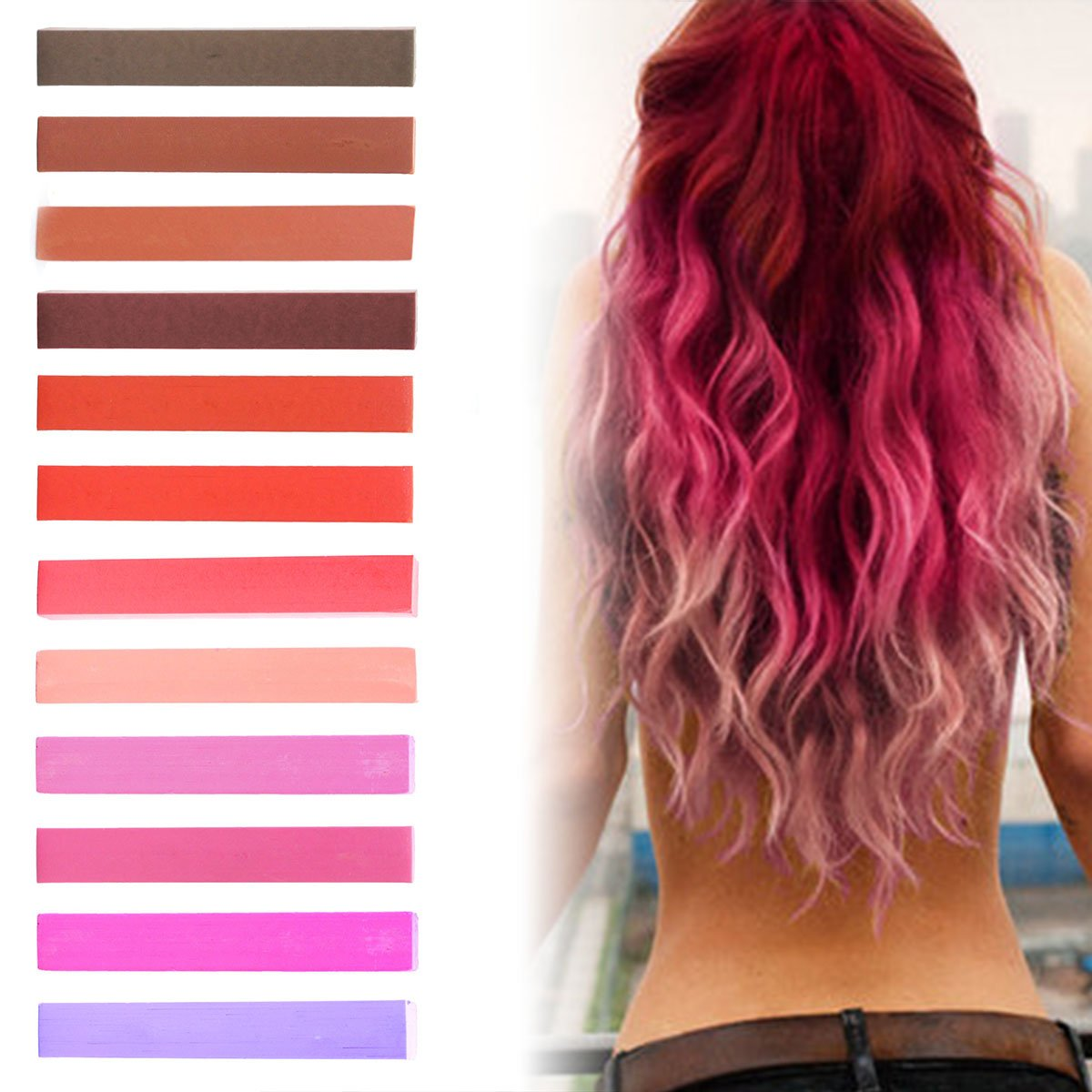 Buy Best Red Ombre Hair Dye Set Paradise Pink Pumpkin Hair Color