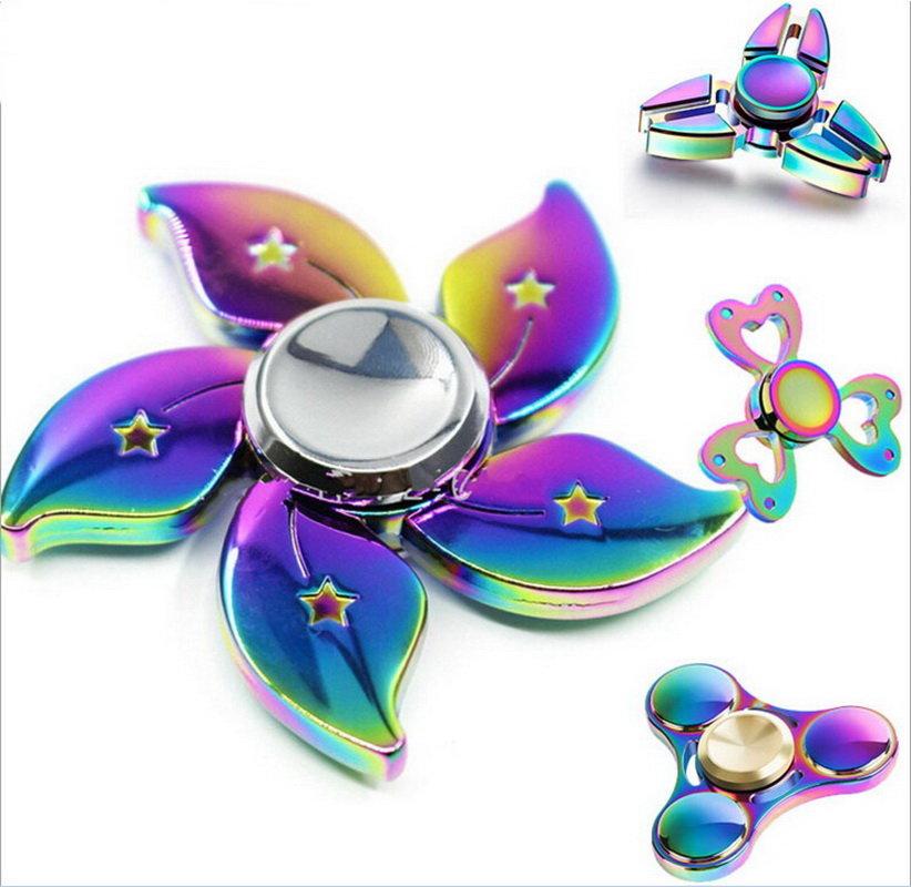 Fidget Spinner of Ultra Durable Stainless Steel Bearing High Speed 3-5 Min Spins Precision wholesale Metal Hand spinner toys