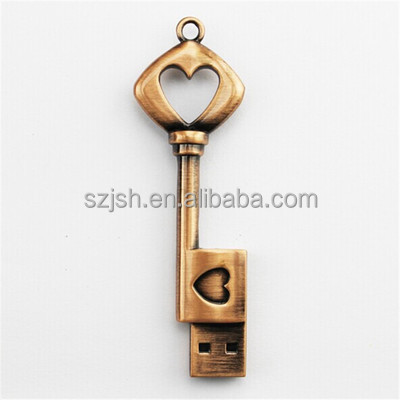 Factory price Stainless Steel cheapest usb 2.0 Key usb flash metal usb flash for wedding gift