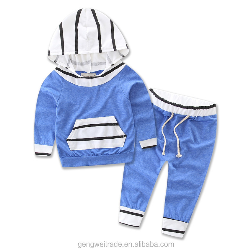 2016 kids casual style clothes set autumn wearing boys and girls toddlers kids hoodie clothing set