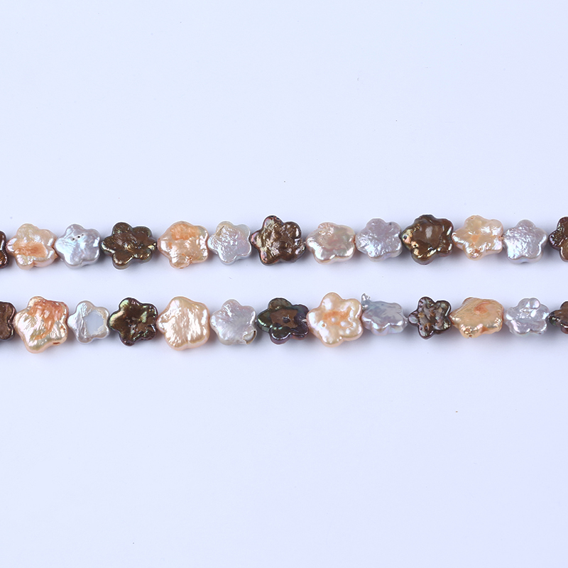 11-12mm five-pointed star shape freshwater pearl baroque loose pearls